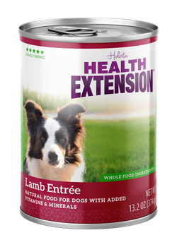 Health Extension Lamb Entree Canned dog food, new can packaging