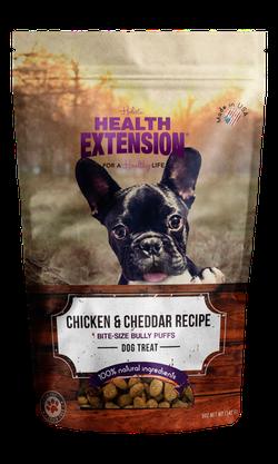 Grain Free Chicken & Cheddar Bully Puffs