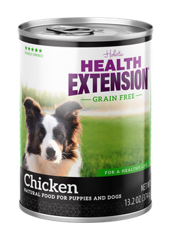 Health Extension Grain Free 95% Chicken Canned dog food, new can packaging