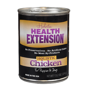 Health Extension Grain Free 95% Chicken Canned dog food, old can packaging