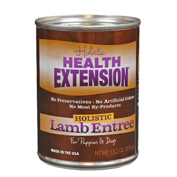 Health Extension Lamb Entree Canned dog food, old can packaging